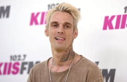 Aaron Carter is an Americal singer aged 31, and younger brother of Nick Carter. He is accused of stealing an artwork created by local artist Ali Shimhaq. PHOTO: MIHAARU FILES