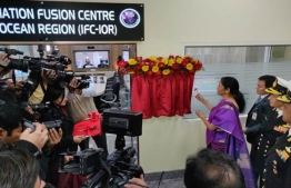 A photograph taken at the inauguration of the Information Fusion Centre for the Indian Ocean Region (IFC-IOR). PHOTO: FINANCIAL TIMES