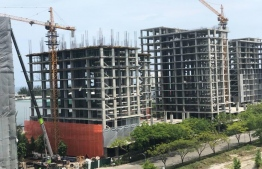 Flats under construction by Noomadi Resorts and Residences. PHOTO: NOOMADI