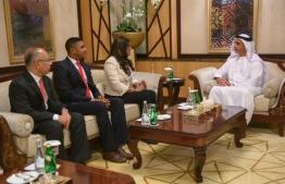 Minister of Defense Maria Ahmed Didi, meets Deputy Prime Minister of UAE. PHOTO: UAE Interior Ministry.