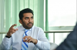 Minister of Health Abdulla Ameen. He is currently at Oman to attend a Global Meeting organised by World Health Organisation (WHO) on NCDs and mental health. PHOTO: HUSSAIN WAHEED/ MIHAARU