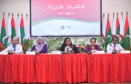 Members of the Anti Corruption Commission (ACC) at a press briefing. The corruption watchdog has submitted a request to annul Article 10:27 of the Public Finance Act. PHOTO: MIHAARU
