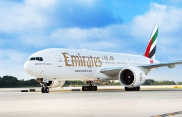 Emirates celebrates the arrival of its inaugural flight from Dubai International Airport (DXB) to Fort Lauderdale-Hollywood International Airport (FLL), marking the launch of their eleventh U.S. gateway on Thursday, Dec. 15, 2016, in Fort Lauderdale, Fla. (Jesus Aranguren/AP Images for Emirates Airline)