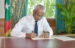 President Ibrahim Mohamed Solih. PHOTO/PRESIDENT'S OFFICE