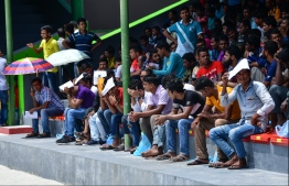 Undocumented migrant workers at the Galolhu Stadium. Expatriates are the most disproportionately affected group in Maldives due the ongoing COVID-19 pandemic. PHOTO: MIHAARU