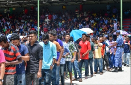 Ministry of Foreign Affairs revealed on Sunday that 70 undocumented Bangladeshi nationals will be repatriated, via a military aircraft bringing back Maldivians stranded in Bangladesh and Nepal. PHOTO: MIHAARU