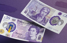 This handout image received on October 10, 2019 from the Bank of England shows the new Twenty Pound Note, back and front, featuring late British painter JMW Turner. - The visual of the new 20-pound note, which will come into circulation in 2020 and dedicated to the famous English painter Turner, was unveiled Thursday by the governor of the Bank of England. (Photo by HO / Bank of England / AFP)