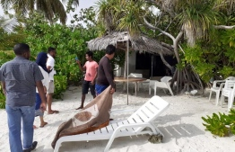 Fushidhiggaa, Alif Dhaalu Atoll. Ministry of Tourism submitted a case to Maldives Police Service over illegal profiting from the island. PHOTO: TOURISM MINISTRY