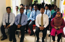 Minister at the President's Office Mohamed Shifaz (C-R) at the inauguration ceremony of the Laboratory in Thakandhoo, Haa Alif Atoll. PHOTO: MINISTRY OF HEALTH