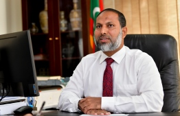 Minister of Home Affairs, Imran Abdulla. PHOTO: MIHAARU