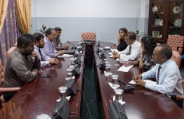 Speaker of Parliament and former president, Mohamed Nasheed, meets members of Civil Service Commission. FILE PHOTO/MAJILIS