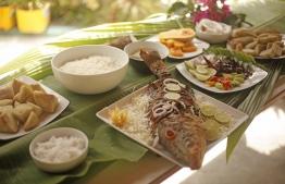 A lunch spread at Kottafaru Guesthouse. PHOTO: HAWWA AMANY ABDULLA/ THE EDITION
