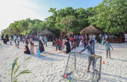 The community park established in Nellaidhoo, Haa Dhaalu under 'Aharenge Bank' Community Fund. PHOTO: BANK OF MALDIVES (BML)
