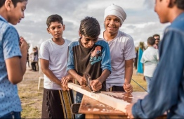 Maldivian youths participating in an event. PHOTO: UNICEF MALDIVES