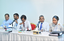Members of the Judicial Service Commission. PHOTO: HUSSAIN WAHEED / MIHAARU