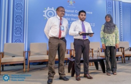 Minister Ameen launching the Public Health Fund. PHOTO: HEALTH MINISTRY