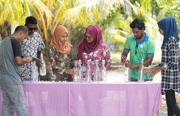 1000 reusable water bottles were distributed under BML Community Fund. PHOTO: BML
