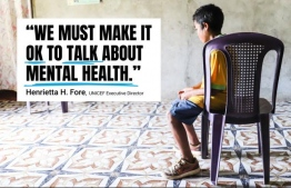 United Nations Children's Fund (UNICEF) and the World Health Organization (WHO) are co-hosting a mental health conference from November 7-9 in Florence, Italy. PHOTO: UNICEF