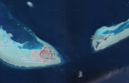 The area in Dhaalu Atoll where the speedboat capsized.
