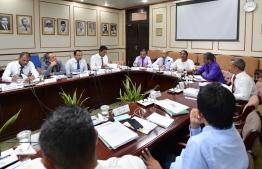The parliament's budget committee. PHOTO: NISHAN ALI/ MIHAARU
