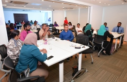 During the multi-sectoral stakeholders workshop hosted by Tiny Hearts of Maldives to draft the National Policy on Physical Activity, on November 12, 2019. PHOTO: HUSSAIN WAHEED / THE EDITION