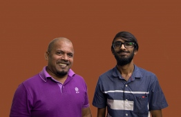 Former Majeedhiyya School Teacher and Elections Commission Chief Ahmed Shareef (L) and former Majeedhiyya House Captain Ahmed Assad.