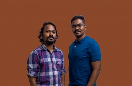 Gamers Association of Maldives (GAME)'s President Arizlaan Darcia (L) and Secretary General Hassan Arif. PHOTO: AHMED AIHAM / THE EDITION