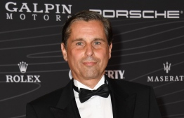 President/CEO of Porsche North America Klaus Zellmer arrives to the Petersen Automotive Museum Gala in Los Angeles on October 5, 2018. (Photo by VALERIE MACON / AFP) /