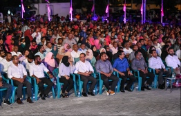 A PPM rally at Alimas Carnival prior to the conviction of former president Abdulla Yameen Abdul Gayoom. PHOTO: HUSSAIN WAHEED / MIHAARU