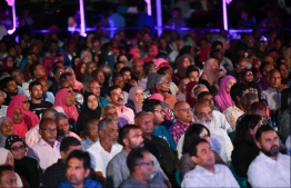 a photograph taken at an opposition rally. PHOTO: HUSSAIN WAHEED/ MIHAARU