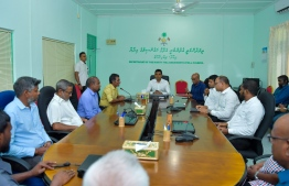 Vice President Naseem meeting with Haa Alifu Atoll Council. PHOTO: PRESIDENTS OFFICE