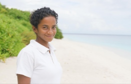 Azhoora Ahmed, the Surf Experience Manager for the Soneva resorts in the Maldives. PHOTO: HAWWA AMAANY ABDULLA / THE EDITION