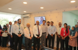 Participants of the inauguration ceremony of the oncology pharmacy unveiled in Indira Gandhi Memorial Hospital (IGMH). PHOTO: IGMH