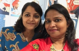 Minister of Arts, Culture and Heritage Yumna Maumoon (L) and Aminath Nadhira were appointed as the interim vice presidents of Maldives Reform Movement (MRM) on November 26, 2019.