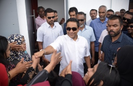 Former President Abdulla Yameen Abdul Gayoom before he was sentenced to 5 years in prison over money laundering charges. PHOTO:  NISHAN ALI / MIHAARU