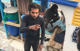 Ismail Hammaadh, who was accused of raping and impregnating a 12-year-old child, was arrested by Maldives Police Service on December 1. PHOTO: MIHAARU