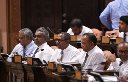 Lawmakers pictured during a parliament sitting. PHOTO/People's Majilis