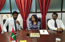 The three individuals appointed into Maldives Broadcasting Commission on December 5 - Vice President Ahmed Gais (L), President Mariyam Waheeda and member Ali Yoosuf. PHOTO: BROADCOM