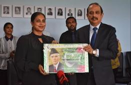Pakistani Ambassador to Maldives Waseem Akram and Minister of Eduation Dr Aishath Ali. PHOTO: EMBASSY OF PAKISTAN IN MALDIVES