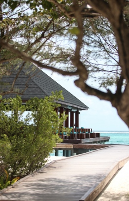 Walk over to Summer Island Maldives' overwater 'Avi' bar for some serious relaxation. PHOTO: HAWWA AMAANY ABDULLA / THE EDITION