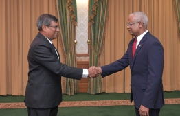 President Ibrahim Mohamed Solih and Chief Justice Ahmed Muthasim Adnan. PHOTO: PRESIDENTS OFFICE