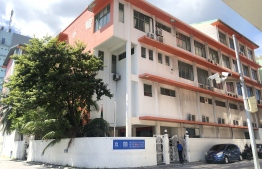 MES building: The contract given to Male' High Private Limited to use the building as a campus for an international school was annulled in 2015 -- Photo: Mihaaru File
