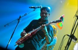 Akku from the Alternative rock band 'Dhunfini'. PHOTO: HUSSAIN WAHEED