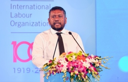 Minister of Economic Development Fayyaz Ismail. He announced that the minimum wage will be determined by the end of February. PHOTO: NISHAN ALI/ MIHAARU