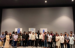 Participants and cast of the four films alongside senior officials of the government and representatives of UNDP at the private premiere of the 'Aikya' programme. PHOTO: UNITED NATIONS DEVELOPMENT PROGRAMME