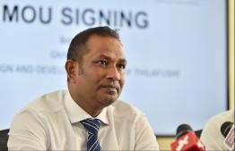 Greater Male Industrial Zone Pvt Ltd's Managing Director Ibrahim Rasheed. PHOTO: HUSSAIN WAHEED / MIHAARU