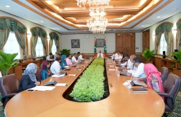 From the cabinet meeting held at President's Office on December 24. PHOTO: PRESIDENTS OFFICE