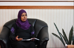 Minister of Gender, Family and Social Services Shidhatha Shareef. PHOTO: HUSSAIN WAHEED/ MIHAARU