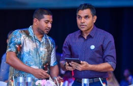 Vice President Naseem and Sports Minister Mahloof. PHOTO: PRESIDENT'S OFFICE