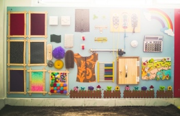 Inside the SEN classroom at Gaafaru School. PHOTO/BML